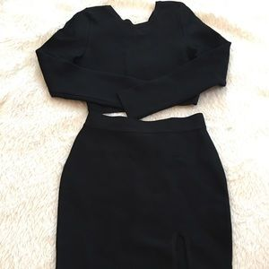 Other - Black spandex skirt set